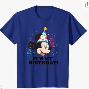 Boys Mickey Mouse birthday shirt nwot size xs